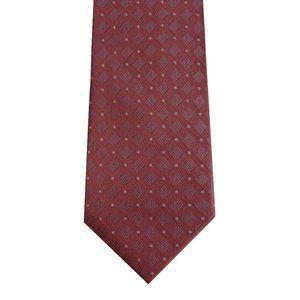 DKNY pink Pindot Square silk tie